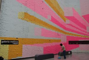 Wall covered with Post-It Notes
